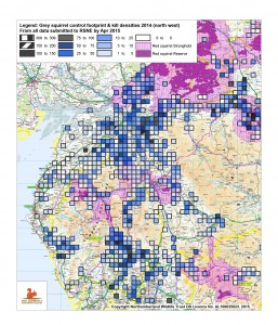 Control footprint & densities 2014 north west