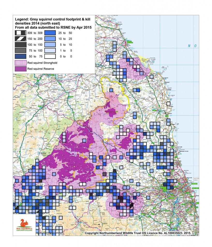 Control footprint & densities 2014 north east